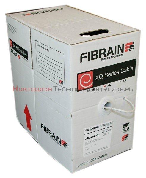 FIBRAIN DATA Quick kat.6 U/UTP 500Mhz, drut, PVC szary (305m)