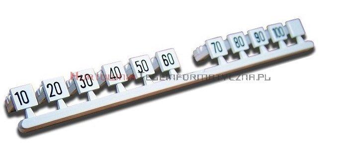 Oznacznik plastikowy 10,20,30...100 na łączówkę LSA