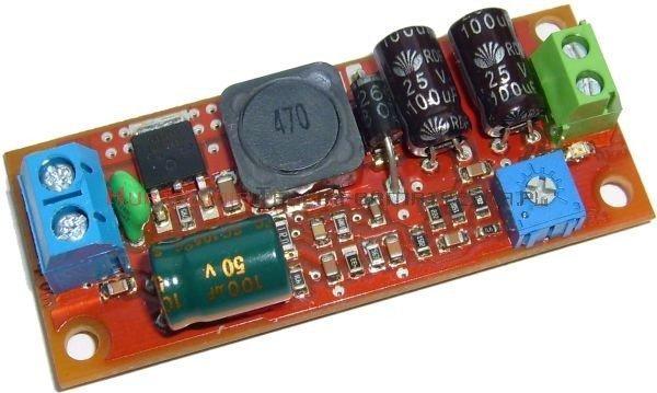 Moduł obniżający napięcie dla jednej kamery 25W, Uwe=32÷50V, Uwy=3,3÷12V