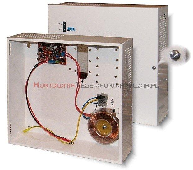 Zasilacz buforowy 12V 3,3A (obudowa zamykana na klucz + płyta gł. + transformator)