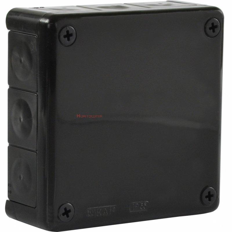 Puszka elektr. hermetyczna natynkowa 110x110mm IP55 WIKAT, czarna