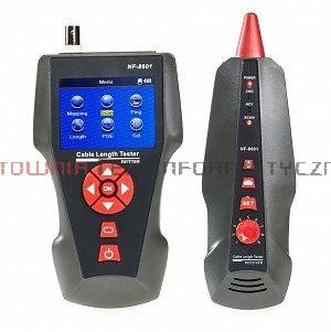 Tester kabli LAN z szukaczem 8601W, LCD, pomiar dł. kabla i miejsca awarii, ping