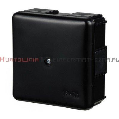 Puszka elektr. hermetyczna natynkowa 85x85x40mm IP55, czarna (na 1 śrubę)