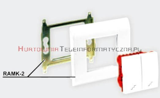EMITER Ramka + support metalowy 45mm 4 modułowa