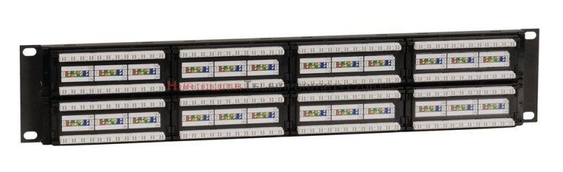 SOLARIX Patch Panel 48XRJ45 kat.6 UTP bez półki, czarny 2U