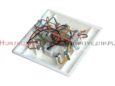 Gniazdo telefoniczne podtynkowe 2 x RJ11 kompletne (łapki)