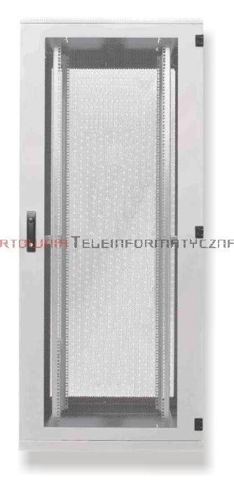 BKT Serwerowa szafa ramowa stojąca Standard II 42U, 600/1200/1980, szer./gł./wys. mm. drzwi perforowane, RAL 7035 ( konstrukcja spawana - nośność 1000 kg )