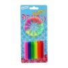 Świeczki urodzinowe na tort FLUOR tęczowe 6cm 24szt