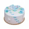 Dekoracja cukrowa na tort chrzest KSIĄŻECZKA Z DZIECKIEM biała