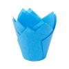 Papilotki na muffinki TULIPAN (160/50) niebieski 50 szt
