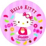 Modecor opłatek na tort Hello Kitty Cukierki 14,5cm
