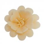 FUKSJA kwiat cukrowy na tort 6,5cm ECRU 1szt