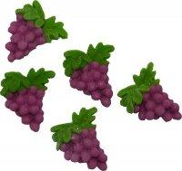 Dekoracja cukrowa Winogrono z listkiem 5 szt.