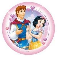 Modecor - opłatek na tort okrągły Królewna Śnieżka i Królewicz