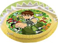 Kardasis - opłatek na tort okrągły BEN 10