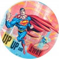 Kardasis - opłatek na tort okrągły Superman Up & Away