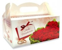Ozdobne pudełko na ciasto weselne 10 szt. red