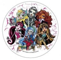 Modecor - opłatek na tort Monster High D 14,5 cm
