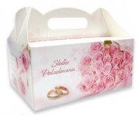 Ozdobne pudełko na ciasto weselne 10 szt. rose