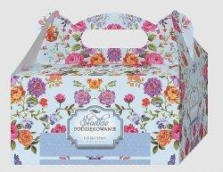 Ozdobne pudełko Róże na ciasto weselne 10 szt. Lux
