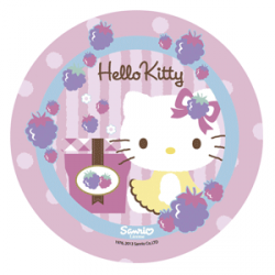 Opłatek na tort okrągły Hello Kitty A