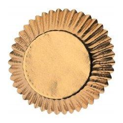 Papilotki na muffinki 50x30mm ZŁOTE 24 szt - Wilton