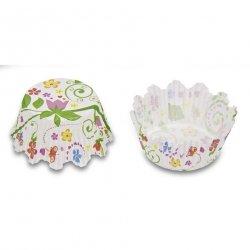 Papilotki, foremki do muffinek Kwiaty 35 mm 100 szt