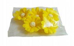 Stokrotka kwiaty cukrowe 5szt żółte