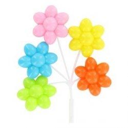 Kolorowe plastikowe BALONIKI kwiaty - dekoracja na tort