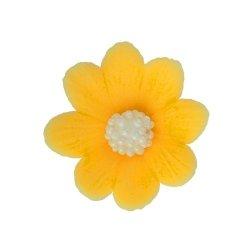 Kwiatki cukrowe ŻÓŁTE na tort MIŁEK 10szt