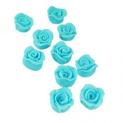 Cukrowe MINI RÓŻE różyczki niebieskie 10szt