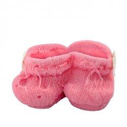 Buciki cukrowe na tort CHRZEST baby shower różowe