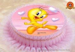 Kardasis - opłatek na tort okrągły Tweety