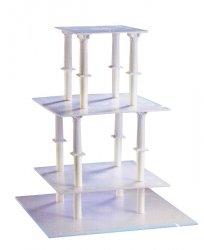 Kardasis - stojak kwadratowy na torty weselne 8 Kolumn