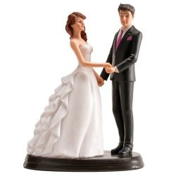 Figurka na tort ślub PARA MŁODA tańcząca 20cm