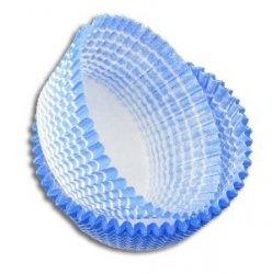 Papilotki foremki na muffinki 40mm niebieskie 100szt