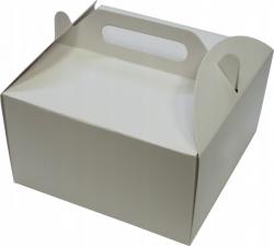 Pudełko kartonowe na tort ciasto z rączką 26x26X14 cm