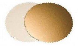 Podkład pod tort gruby złoty karbowany śr. 32cm