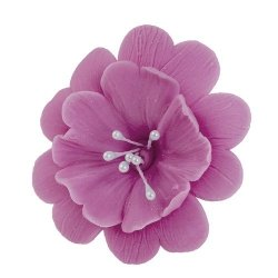 FUKSJA kwiat cukrowy na tort 6,5cm WRZOSOWY 1szt