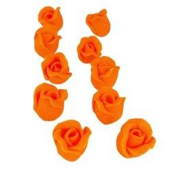 Cukrowe MINI RÓŻE różyczki pomarańczowe 10szt