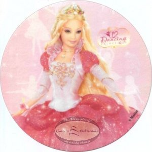 Opłatek na tort Barbie Dancing Princess