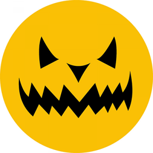 Opłatek waflowy na tort Halloween Dynia 20cm v18