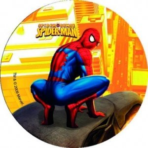 Opłatek na tort okrągły SpiderMan Sense I 14,5 cm
