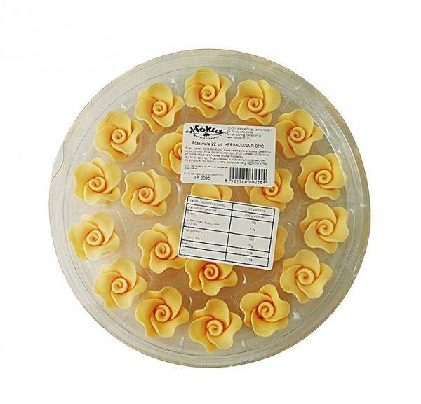 Róże cukrowe MAŁE 22szt herbaciane