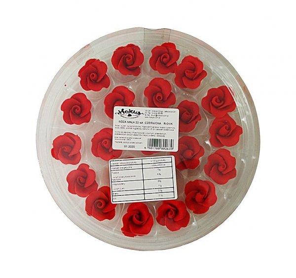Róże cukrowe MAŁE 22szt czerwone