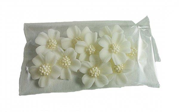 Niezapominajka kwiaty cukrowe 10szt białe