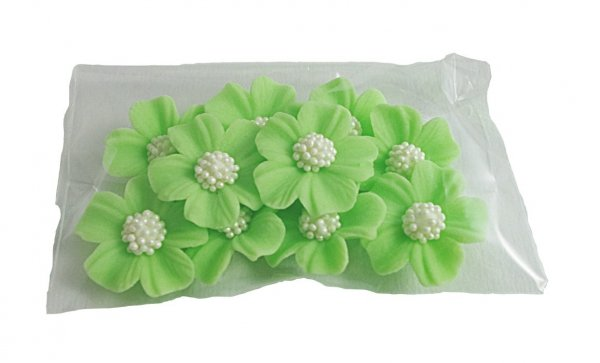 Niezapominajka kwiaty cukrowe 10szt seledynowe