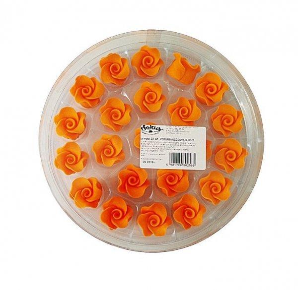Róże cukrowe MAŁE 22szt pomarańczowe
