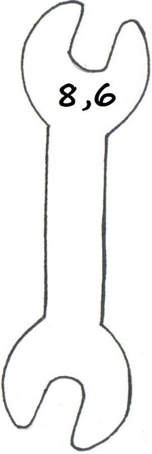 Wykrawacz FOREMKA do ciastek pierników KLUCZ DO ŚRUB 8,5cm