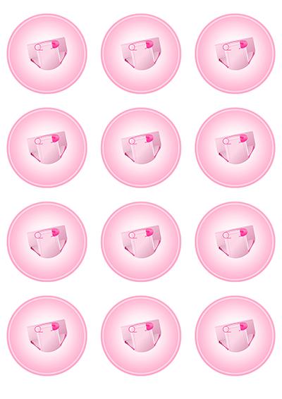 Opłatki waflowe na muffinki Baby Shower 6cm 12szt v1